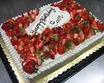 Fresh Strawberry Birthday Cake